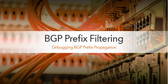 BGP Prefix Filtering: Debugging BGP prefix propagation