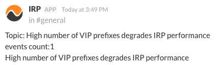 Slack VIP prefixes