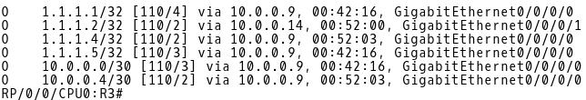 R3 OSPF Routes