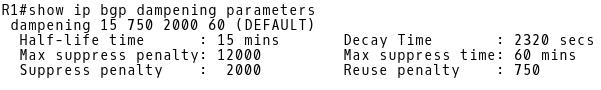 Checking Dampening Parameters