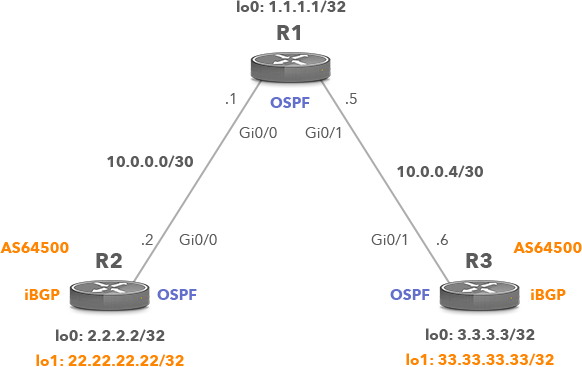 Network Topology with iBGP Peers