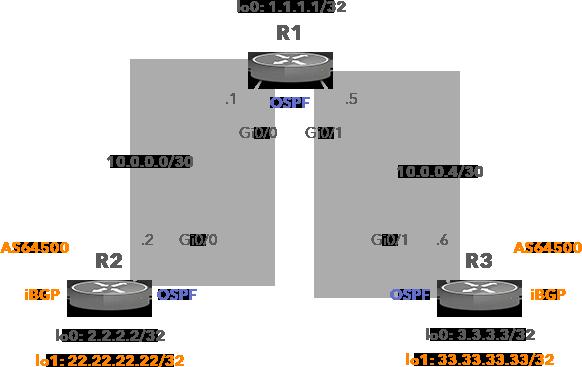 Network Topology with iBGP Peers