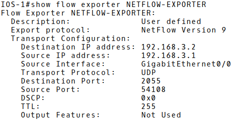 Checking Flow Export Configuration