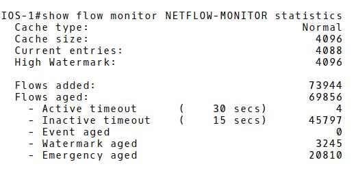 Flow Monitor Statistics