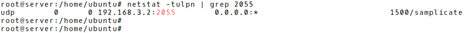 Checking Whether Samplicator is Listening on IP address 192.168.3.2 UDP 2055