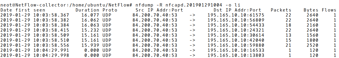 A Large Amount of DNS Responses in NetFlow Records