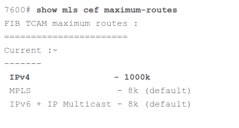New TCAM Allocation After Reboot