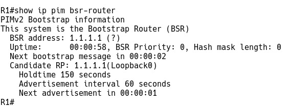 Checking Bootstrap router (v2) Information