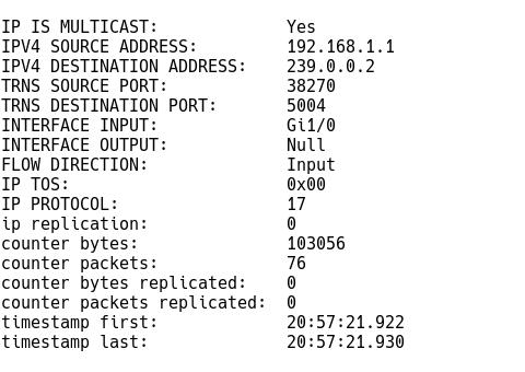 Multicast Record