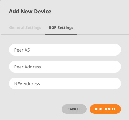 BGP Settings