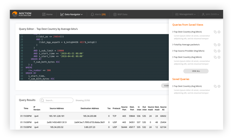 SQL query editor