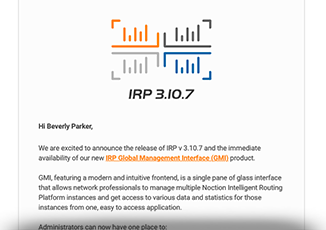 irp 3.10.7 with global management interface