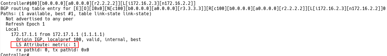 Checking Link Descriptor Route on Controller