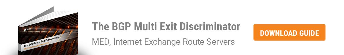 BGP Multi Exit Discriminator